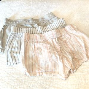SO Shorts - Bundle of 3 pairs woven elastic waist soft shorts